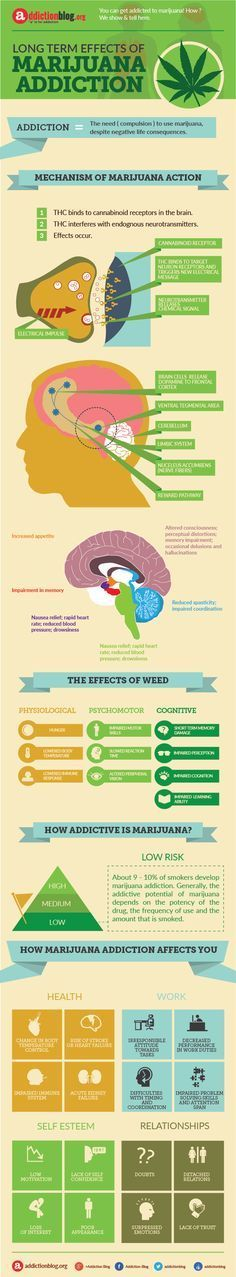 Long term effects of marijuana addiction. You can get addicted to this drug,