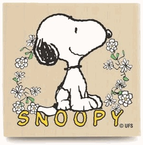 $6.29 Snoopy Floral Rubber Stamp. www.JoeCollector.com