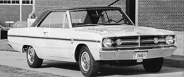 Prototype 1968 440 Dart Gss At Grand Spaulding Dodge In The Fall Of 1967