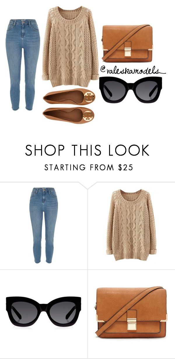 """Casual Saturday #2"" by valeska-models on Polyvore featuring moda, Karen Walker, Forever 21, Tory Burch y outfitoftheday"