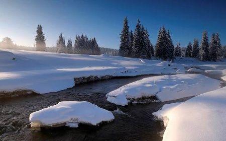 Roklanský potok v zimě, Šumava