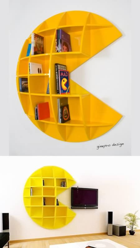 [ This would be a fantastic piece to display our games, and figures. -Jen] 10 Seriously Awesome Pieces of Geeky Furniture - Oddee.com
