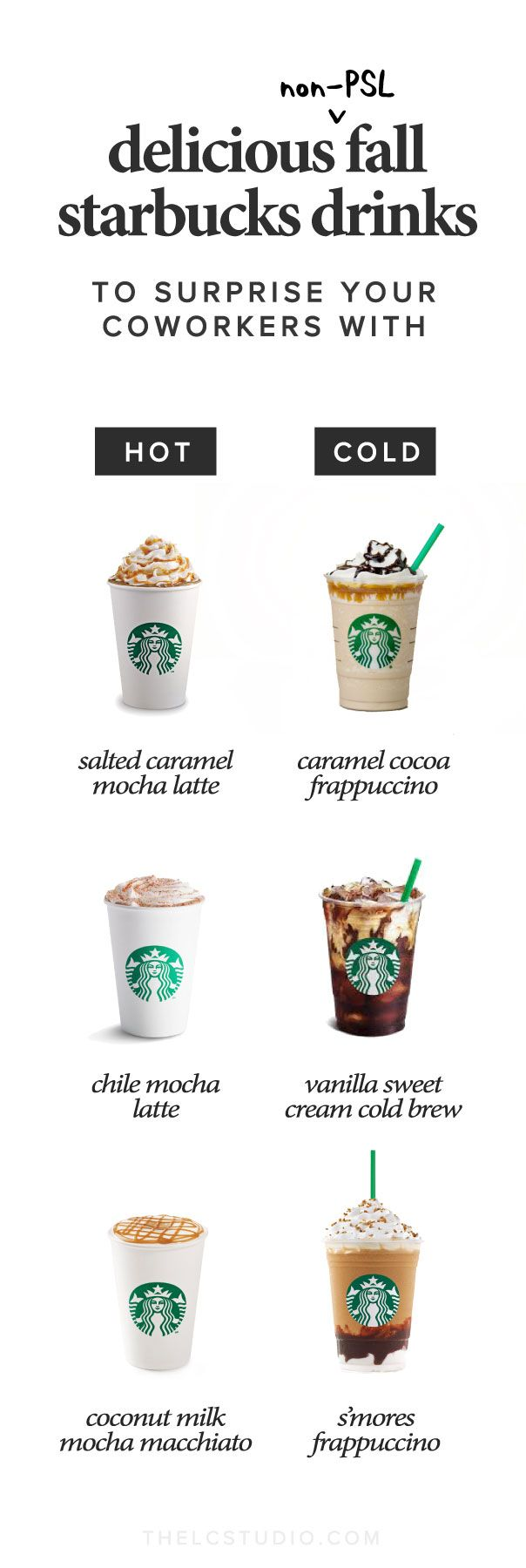 Delicious Non-PSL Fall Starbucks Drinks to Surprise Your Coworkers | The LC Studio