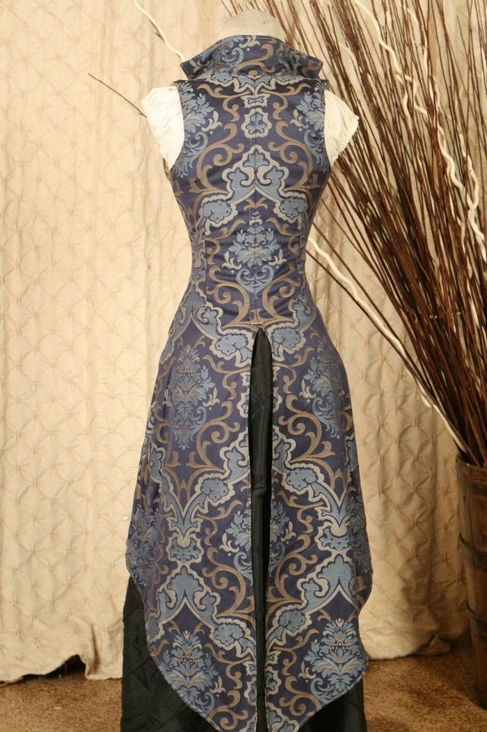 Waist 26 to 28 Blue Peacock Tailed Vixen Corset-Perfect for Halloween-Ready to Ship. $199.00, via Etsy.