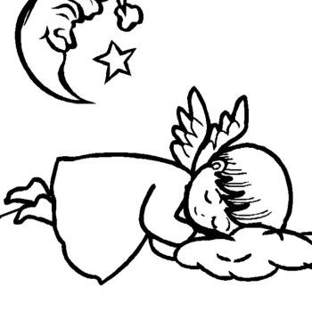 christmas angel coloring pages christmas angel sleeping coloring page - Coloring Pages Beautiful Angels