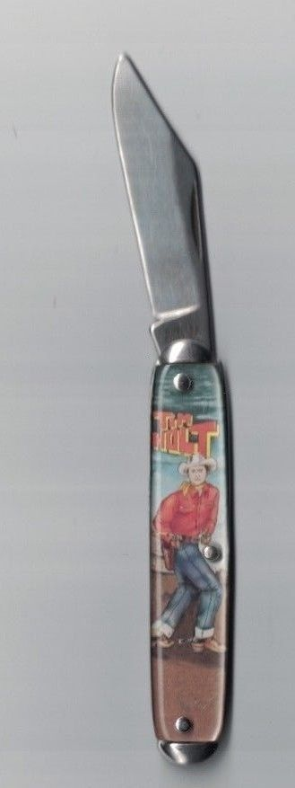 Tim Holt Westerns Film Star Folding Pocket Knife - Novelty Knife Co #NoveltyKnifeCompany