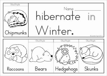 Winter Sight Words Flip Books (colored black and white). Includes a recording sheet for each booklet so kids can write their favorite sentences. Great paper saving alternative to traditional readers!