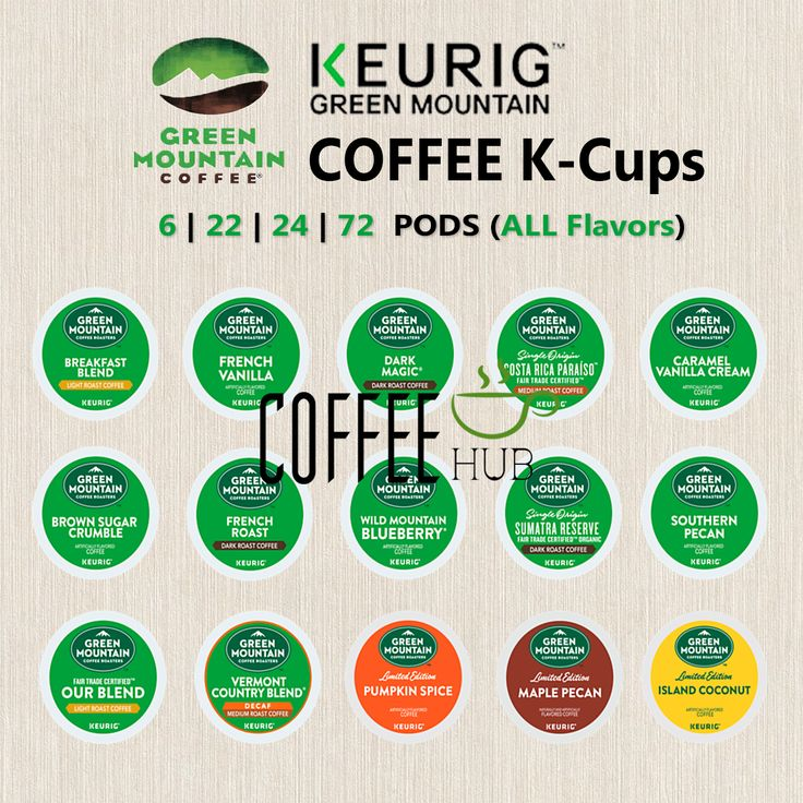 Green Mountain Coffee Pod KCups 6 22 24 72 Count Capsule