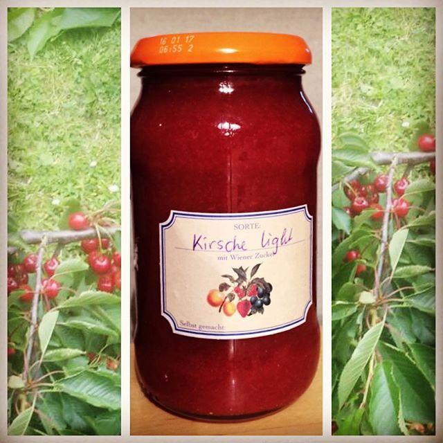 Wir hatten heuer so viele Kirschen, dass ich #marmelade gemacht habe Stark zuckerreduziert Das Rezept Findet ihr auf meinem Facebookblog Mrs.B.: https://www.facebook.com/MrsBnimmtab/posts/617756395066327
