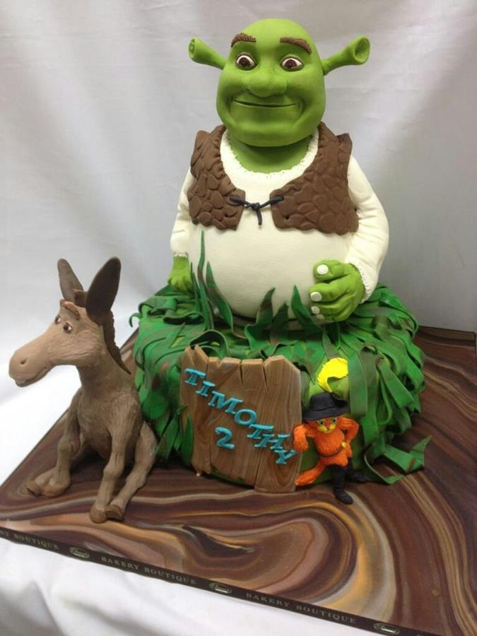 Shrek themed custom cake