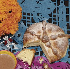 Pan de Muerto (Bread of the Dead) In the Mexican tradition, this sweet, buttery bread is a fixture at Day of the Dead celebrations. Serve the sugar-topped loaves with Mexican Hot Chocolate or coffee for dipping. (Mexican Hot Chocolate recipe also available from link on this page)