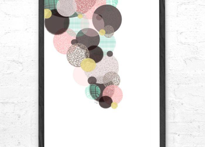 By Tinit Illustration - illustration - tegning - poster - plakat - design - designbutik - til børneværelse - til børn - dekoration - Tinga Tango Designbutik - Bobler