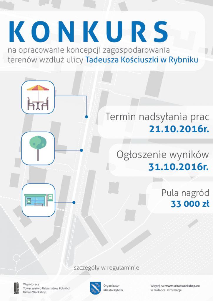 Konkurs na opracowanie koncepcji zagospodarowania terenów wzdłuż ulicy Tadeusza Kościuszki. – Urban Workshop
