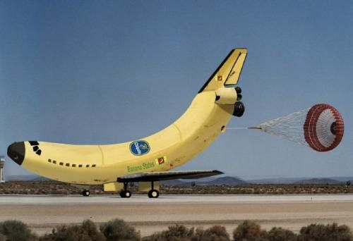 Banana Space Shuttle. http://www.aerospaceguide.net/spaceshuttle/pictures.html