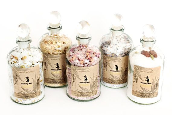 Homemade Bath Salt // Collection of Bath Salts // Bath Gift Set // Homemade