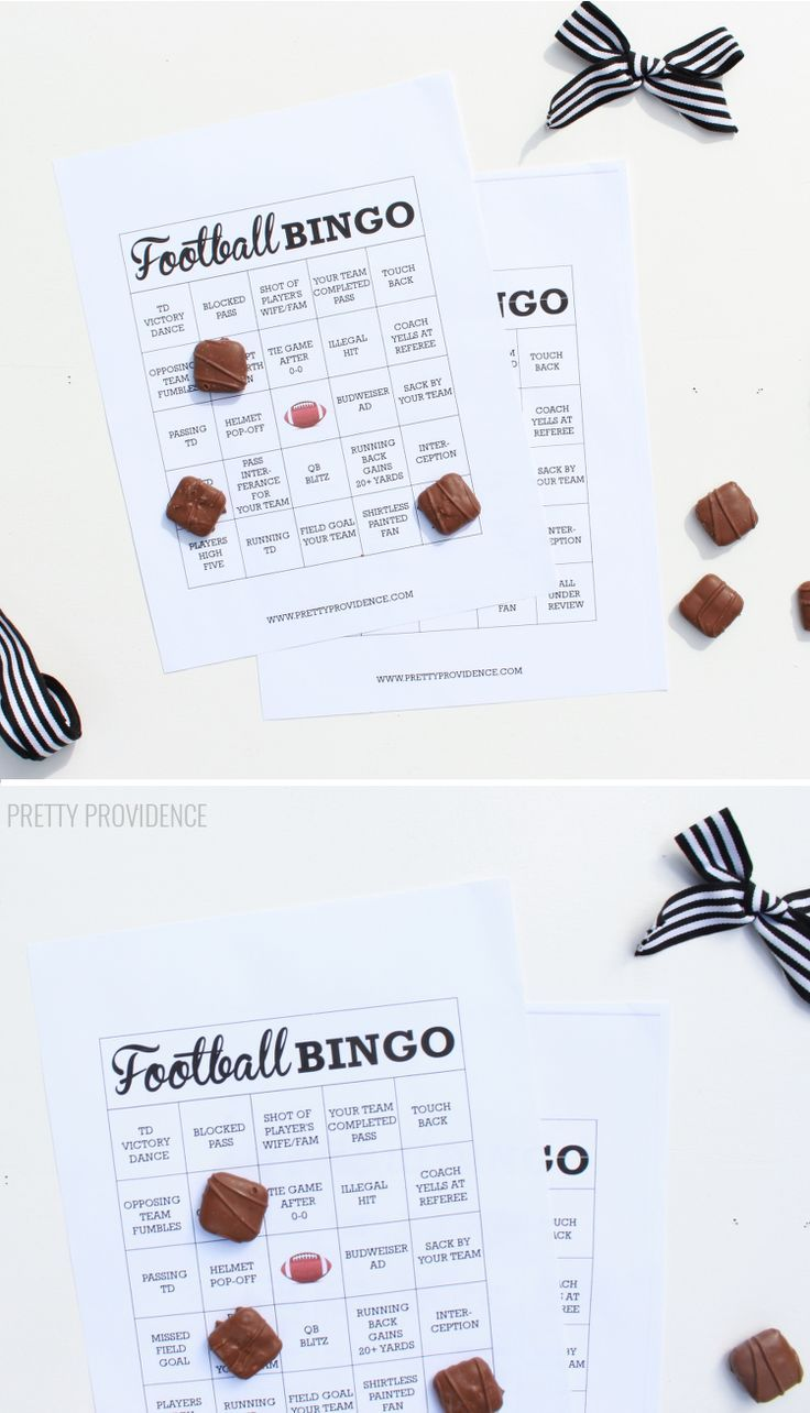 Free printable football bingo! This is perfect for a game day party!!