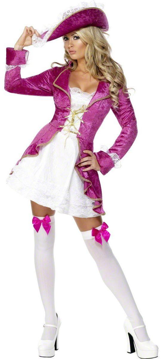 Disfraz de pirata barroco para mujer. Disponible en www.vegaoo.es