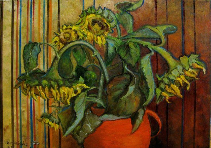 Słoneczniki, 50x70,olej