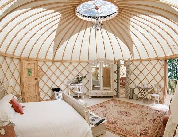 Priory Bay Yurts, Isle of Wight If youre looking for somewhere that really puts the glam in glamping site, then look no further than the newly opened yurts at Priory Bay on the Isle of Wight. With a fully-fledged butler service, it bears little resemblance at all to camping. Except for in one respect: the fact that you can wake up in the morning, throw open the door of your yurt and practically step straight out onto the nearby beach.