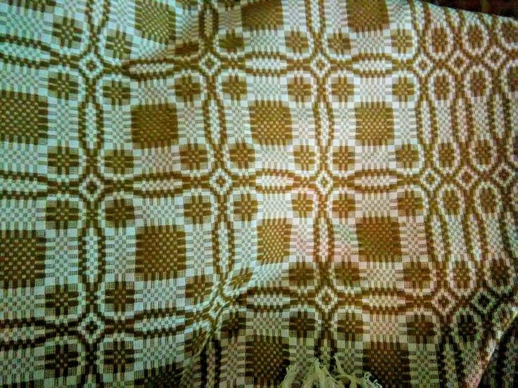 Vintage Brook Woollen Mill Woven Blanket-Harvest Gold and Cream Geometric-NOS #BrookWoollenMill  #wool #blanket #coverlet #bedspread #vintage #retro #midcentury #NOS #geometric #harvestgold #cream #warm #winter #homedecor #simcoe #Ontario #Canada