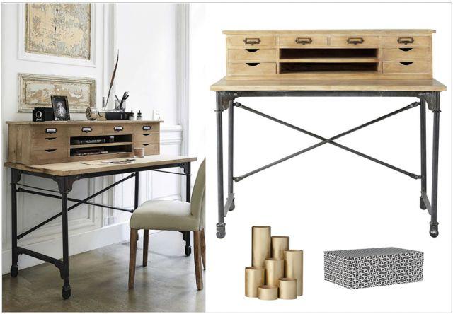 Des petits bureaux pour un coin studieux blog bureaus - Bureau style industriel en metal et bois ...