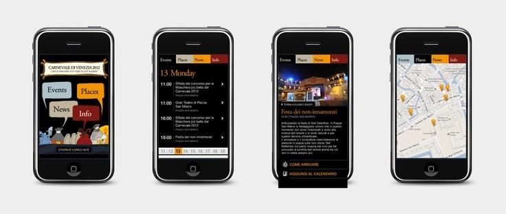 Carnevale di Venezia | App design proposal | 2012