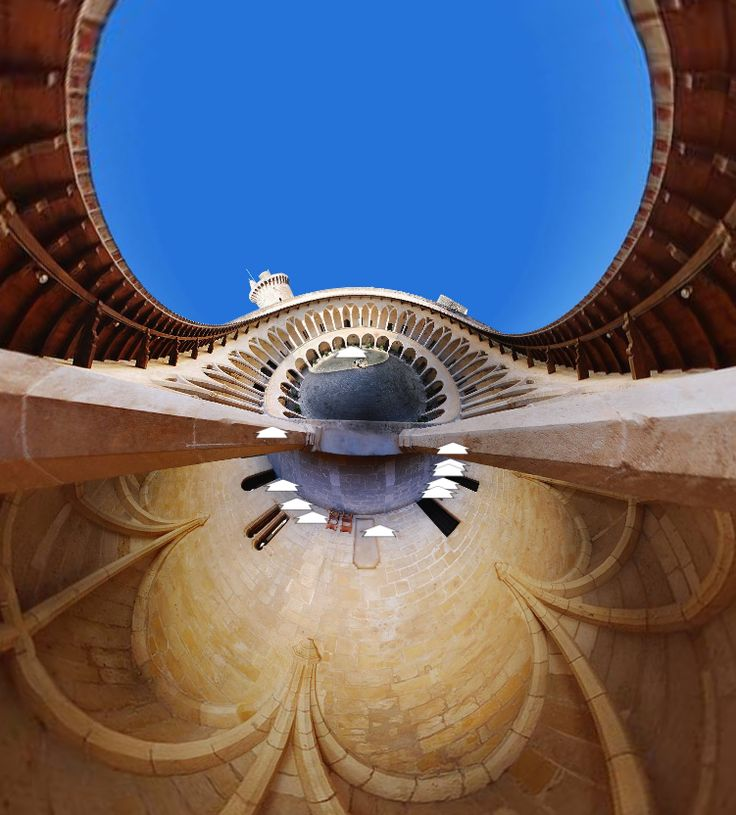 Little Planet View of the Bellver Castle Courtyard (Spain) by Paul Miller. https://www.360cities.net/image/belver-courtyard#368.93,90.00,150.0