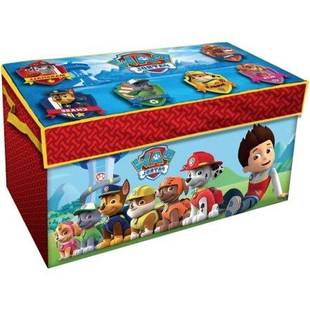 Paw Patrol Oversized Soft Collapsible Storage Toy Trunk, Red