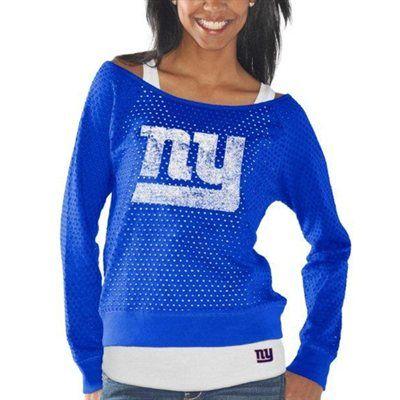 Cheering my team on and looking good doing it! New York Giants Ladies Holy Sweatshirt & Tank Set - Fanatics.com
