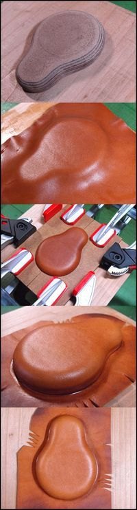 Clamping, forming leather
