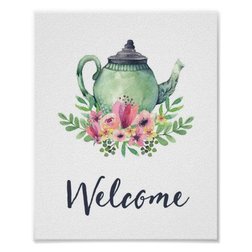 Bridal Shower Tea Party Willkommensschild   – Kids art party