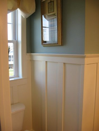 blue paint baltimore bathroom wainscoting design pictures remodel decor and ideas