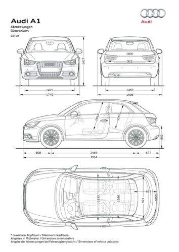 Audi A1 afmetingen 4