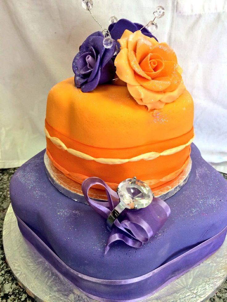 Passion fruit Anniversary cake!
