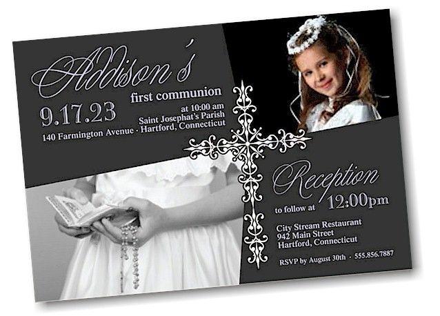 Precious Cross First Communion Invitation