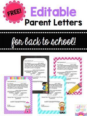Back-2-Speech Parent Letters! ([Simply Speech!])