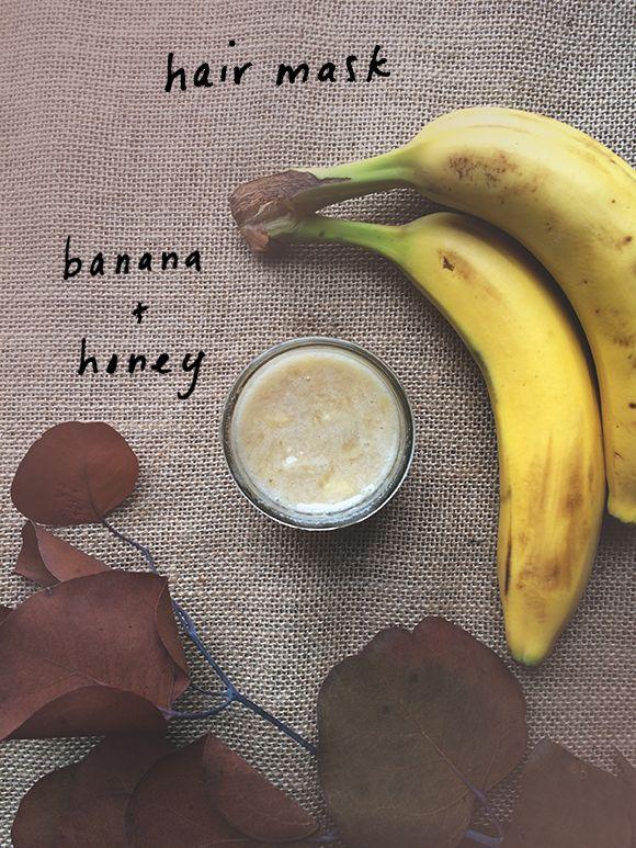 bananen en honing masker