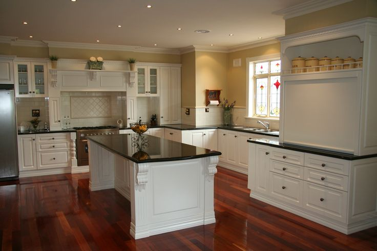 Traditional kitchen, Granite tops and 2pac satin doors