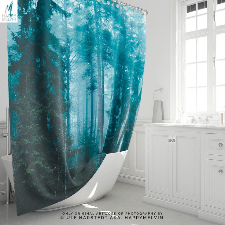 Excited to share the latest addition to my #etsy shop: Hard roads ahead | Shower Curtain | Curtain | Nature | Bathroom Decor | Forest Shower Curtain | Unique | Photography | Home Decor | Nature http://etsy.me/2tBnZ0r #housewares #bathroom #forest #showercurtain