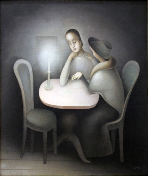 Jan Zrzavy: Girl Friends, 1923 - Oil on Canvas (Centre for Modern and Contemporary Art, Veletrzni (Trades Fair) Palace, Prague)