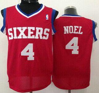 Philadelphia 76ers Jersey 4 Nerlens Noel Red Swingman Jerseys