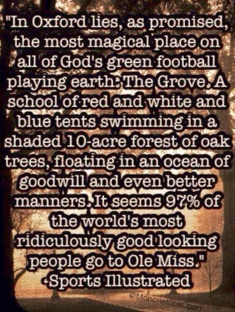 I said its great to be an Ole Miss Rebel!  ~ Check this out too ~ RollTideWarEagle.com sports stories that inform and entertain and Train Deck to learn the rules of the game you love. #Collegefootball Let us know what you think.   #OleMiss
