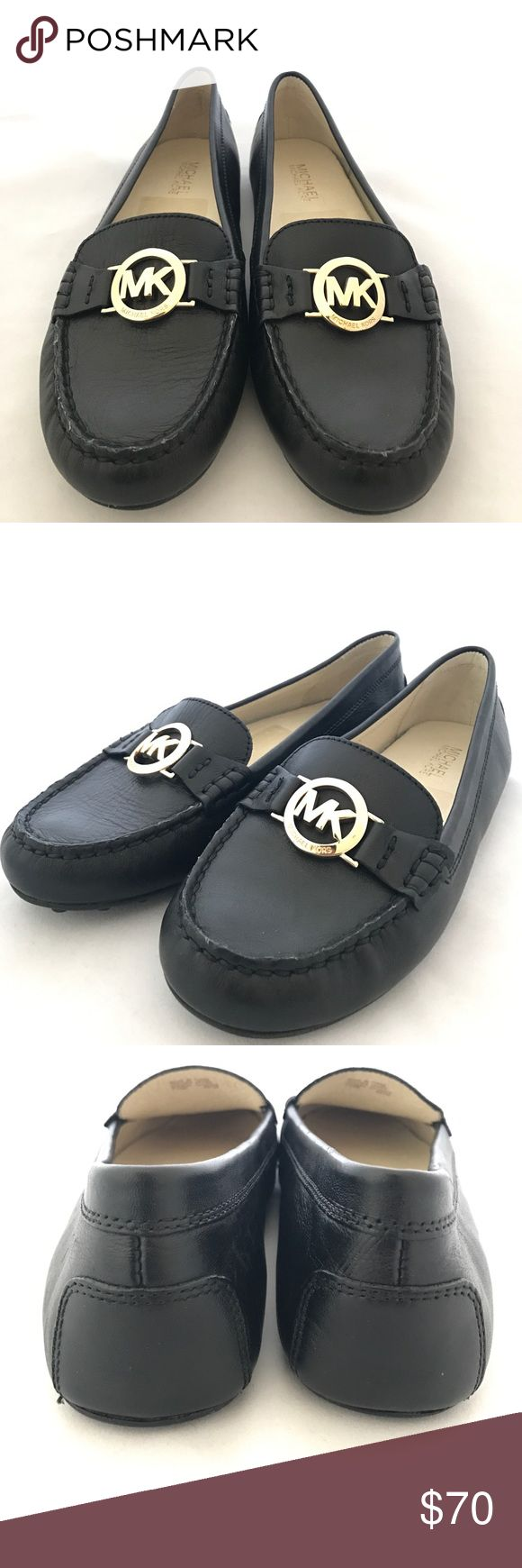 Michael Kors Black Leather Flats Sz 7.5 Michael Kors Black Leather Flats Sz 7.5  In really good condition. No signs of wear on bottom sole. Front flap of right shoe has more wrinkles on the leather. Michael Kors Shoes Flats & Loafers