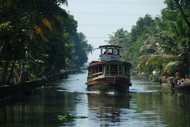 Photo of the Day: Taking the Ferry in Kerala | A state water transport department ferry gliding along the canal in Kerala, #India on December 11, 2011. (peregrinari/Flickr)