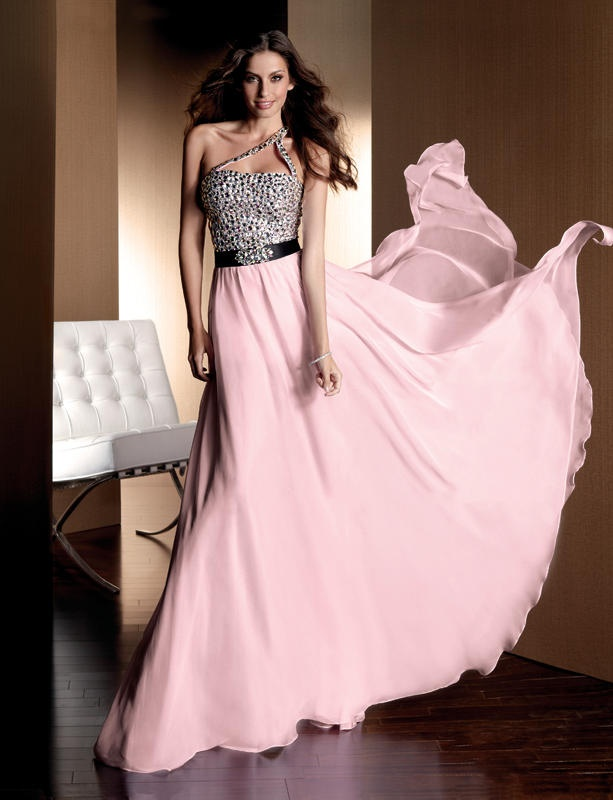 Beautiful prom dress with floor length and waistband design. Sparkling beads are embellished about the bodice. Chiffon skirt is flowing and elegant. Free made-to-measurement service for any size. Available colors seen as in Color Options.