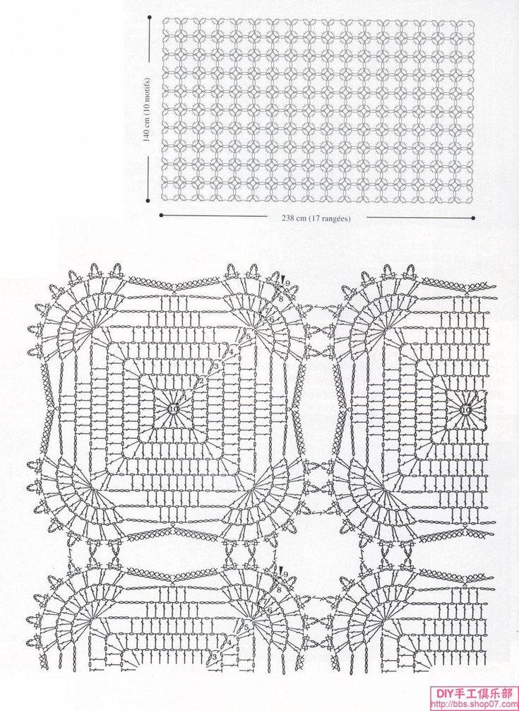 Вязание крючком покрывала с малого и квадрат модули (2)