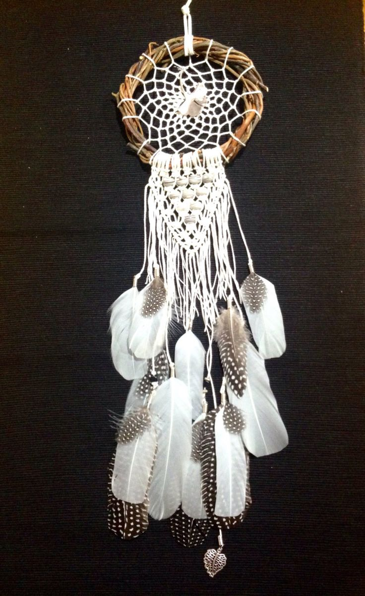 A personal favourite from my Etsy shop https://www.etsy.com/au/listing/491343727/dream-catcher-feather-macrame-wall