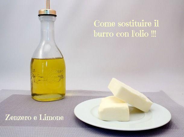 sostituire il burro con l'olio