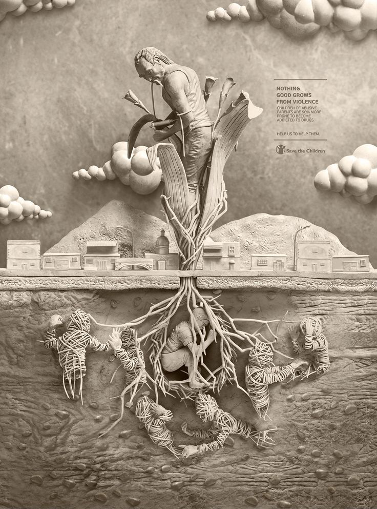 Save the Children - Human Plants on Behance