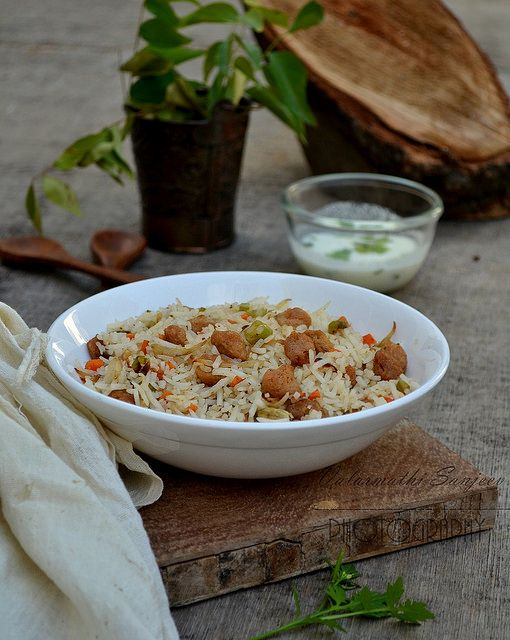 Soya Chunks & vegetable Rice/ Pulao